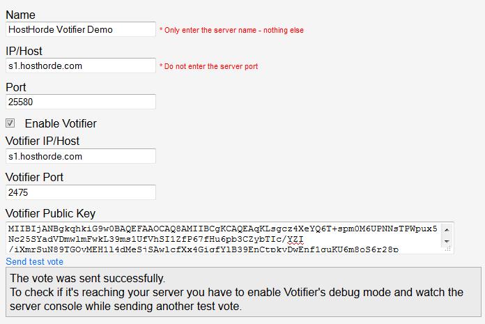 Installing Votifier - Knowledgebase - HostHorde | Unlimited